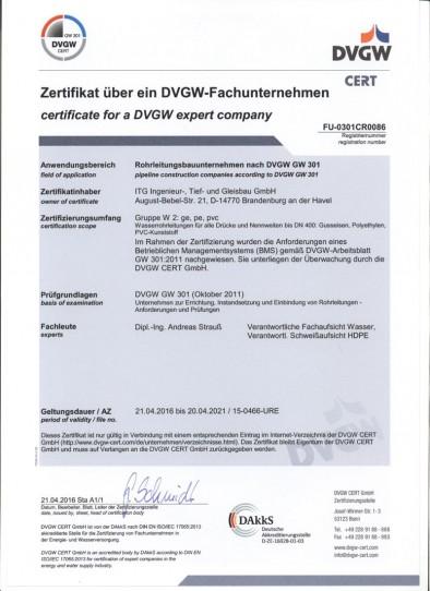Zertifikat-DVGW